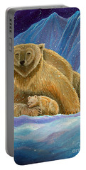 Mother And Baby Polar Bears Portable Battery Charger