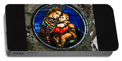 In God We Trust Wall Art Print Portable Battery Charger by Carol F Austin