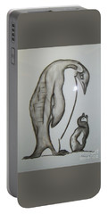Mother And Child Penguins Portable Battery Charger