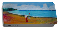 Portable Battery Charger featuring the painting Mother And Daughter by Marilyn  McNish