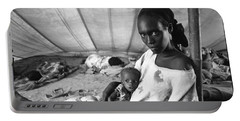 Mother And Her Starving Child In A Tuberculosis Tent, African Di Portable Battery Charger