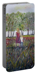 Portable Battery Charger featuring the painting Mother And Son by Marilyn  McNish