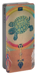 Mother Earth Turtle Medicine Wheel Portable Battery Charger