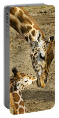 Mother Giraffe With Her Baby Portable Battery Charger