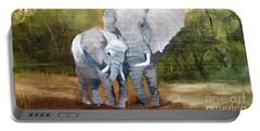 Mother Love Elephants Portable Battery Charger