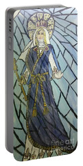 Mother Mary Queen Of Our Battle Portable Battery Charger
