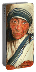 Portable Battery Charger featuring the painting Mother Teresa  by Carole Spandau