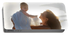 Mother With Baby In Pure Joy, Marin County, California Portable Battery Charger