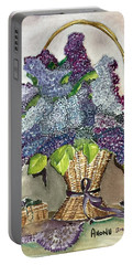 Mothers Day Lilacs Portable Battery Charger