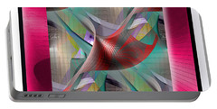 Portable Battery Charger featuring the digital art Motif #2 by Iris Gelbart