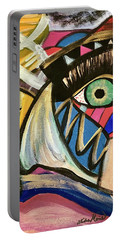 Portable Battery Charger featuring the painting Motley Eye 3 by Alisha Anglin