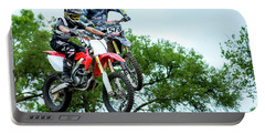 Portable Battery Charger featuring the photograph Motocross Battle by David Morefield