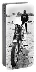 Motorcycle Racing Team Portable Battery Charger by Mark Rogan
