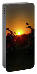 Motorcycle Sunset Portable Battery Charger