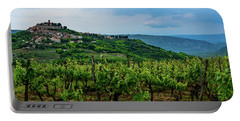 Motovun And Vineyards - Istrian Hill Town, Croatia Portable Battery Charger