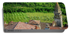 Motovun Istrian Hill Town - A View From The Ramparts, Istria, Croatia Portable Battery Charger