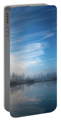 Portable Battery Charger featuring the photograph Mottled Sky by Davor Zerjav