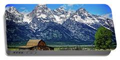 Moulton Barn At Mormon Row Inside Grand Teton National Park Portable Battery Charger