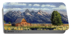 Moulton Barn At The Grand Tetons Portable Battery Charger