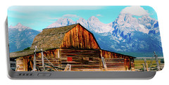 Portable Battery Charger featuring the photograph Moulton Barn by Norman Hall