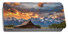 Moulton Barn Sunset Fire Portable Battery Charger