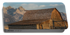 Portable Battery Charger featuring the photograph Moulton Homestead - Barn At Morning Light by Colleen Coccia
