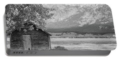 Portable Battery Charger featuring the photograph Moulton Homestead - Granary by Colleen Coccia