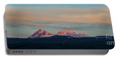 Mount Aragats, The Highest Mountain Of Armenia, At Sunset Under Beautiful Clouds Portable Battery Charger