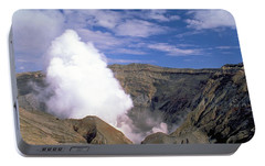 Portable Battery Charger featuring the photograph Mount Aso by Travel Pics