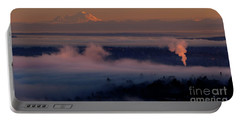 Mount Baker In The Distance Portable Battery Charger by Mike Reid