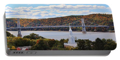 Mount Carmel And The Mid Hudson Bridge Portable Battery Charger