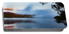 Portable Battery Charger featuring the photograph Mount Chocorua Peeks Above The Fog by Jeff Folger