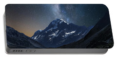 Mount Cook At Night Portable Battery Charger