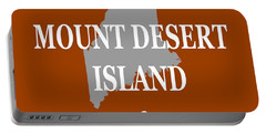 Portable Battery Charger featuring the photograph Mount Desert Island Maine State City And Town Pride  by Keith Webber Jr