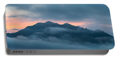 Mount Franklin Stormy Winter Sunset Pano Portable Battery Charger