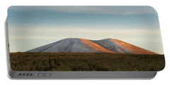 Mount Gutanasar In Front Of Wheat Field At Sunset, Armenia Portable Battery Charger