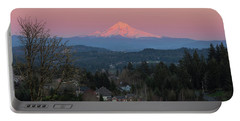 Mount Hood Over Happy Valley Oregon Portable Battery Charger