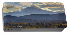 Mount Hood Over Hood River Valley In Fall Portable Battery Charger