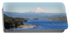 Mount Hood Over The Columbia River Portable Battery Charger
