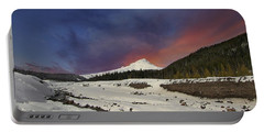 Mount Hood Winter Wonderland Portable Battery Charger