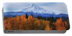 Mount Hood With Fall Colors  Portable Battery Charger by Lynn Hopwood