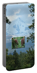 Mount Jefferson With Pines Portable Battery Charger