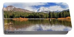 Portable Battery Charger featuring the photograph Mount Lassen Autumn Panorama by James Eddy