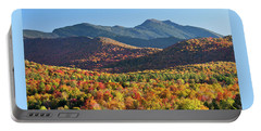 Mount Mansfield Fall Portable Battery Charger by Alan L Graham