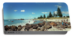 Portable Battery Charger featuring the photograph Mount Maunganui Beach 2 - Tauranga New Zealand by Selena Boron