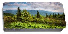 Mount Mitchell Asheville Nc Blue Ridge Parkway Mountains Landscape Portable Battery Charger