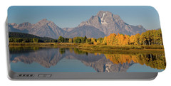 Portable Battery Charger featuring the photograph Mount Moran by Steve Stuller