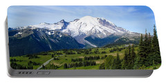 Portable Battery Charger featuring the photograph Mount Rainier At Sunrise by Lynn Hopwood