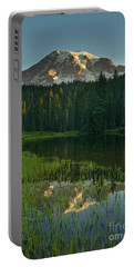 Mount Rainier Dawn Reflection Portable Battery Charger