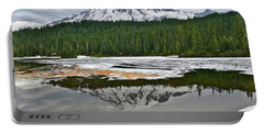 Mount Rainier From Reflection Lakes Portable Battery Charger